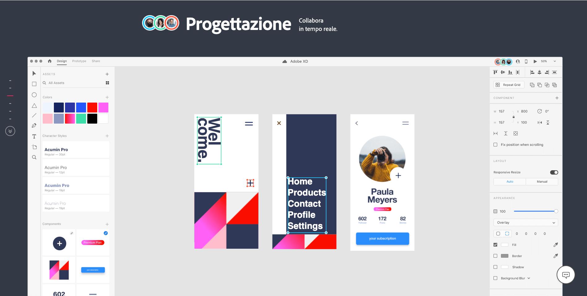 Adobe XD - Co-design progettazione