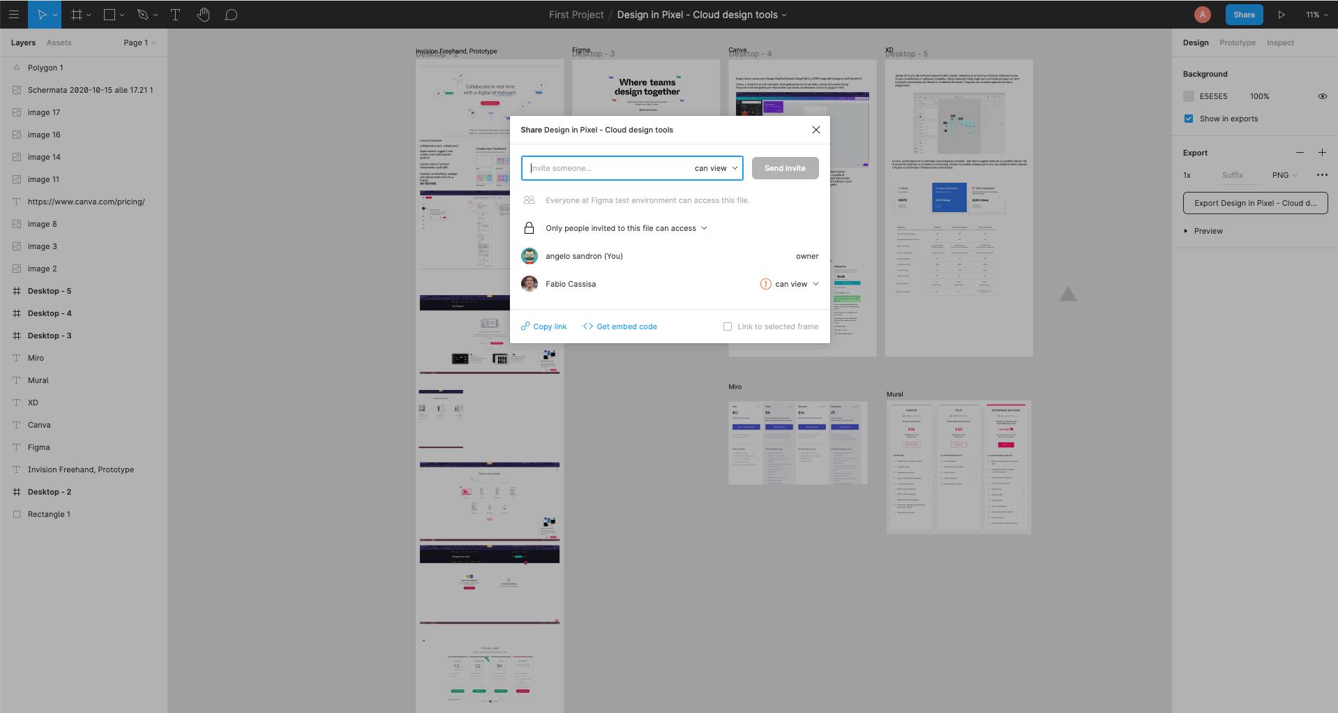 Figma - Co-design condivisione